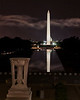 Monuments on the Mall : Monuments on the Mall at night - WWII, Lincoln, & Vietnam Women's Memorials.